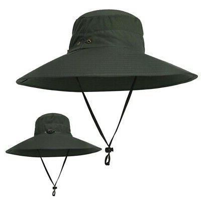Women Bucket Hat Outdoor Fishing Cap Flap Hat Cool