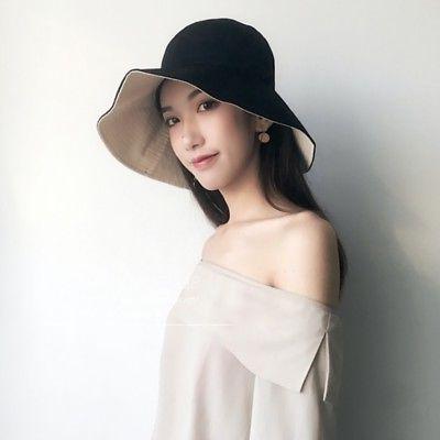 Women's Autumn Cozy Wide Brim Anti-UV Beach Sun Hat