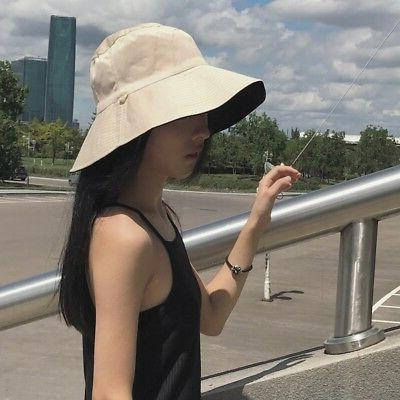Women's Autumn Cozy Brim Anti-UV Beach Cotton Hat
