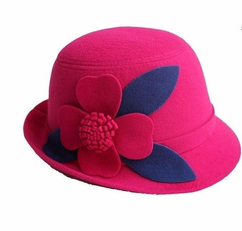 Women's Bucket w/Four-Leaf Clover Church Hat, Assorted