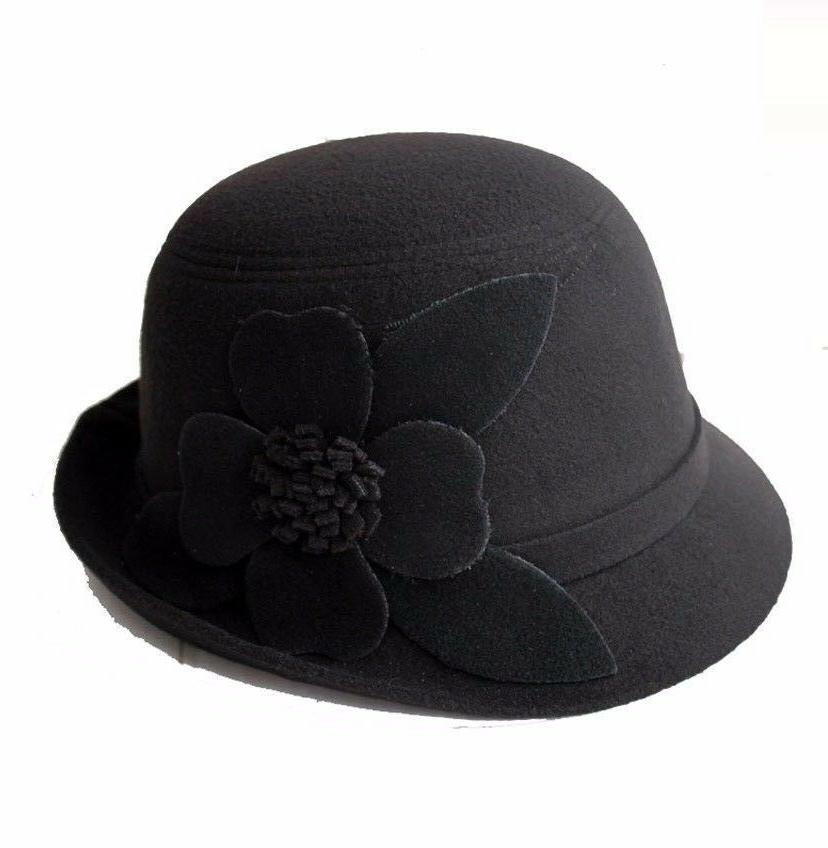 Women's Fedora Bucket Dome w/Four-Leaf Assorted Colors