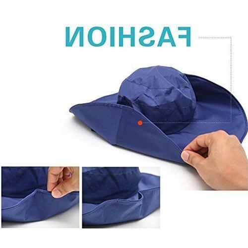 Women's Rain Hats Waterproof Rain Bucket Hat Sun Hats
