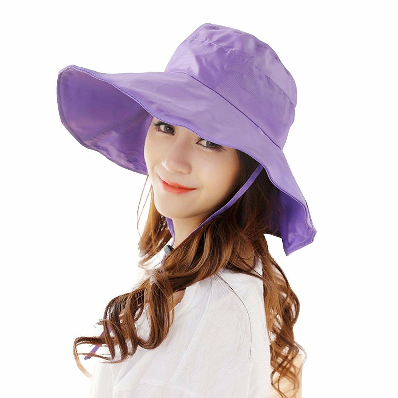 Women's Rain Hats Waterproof Rain Hat Wide Brim Bucket Hat R