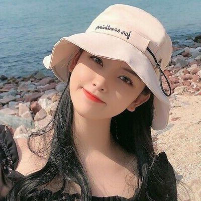 Women's Floppy Beach Hat Ruffles Bucket Caps