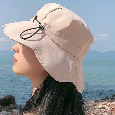 Women's Beach Hat Letter Embroidery Ruffles Bucket