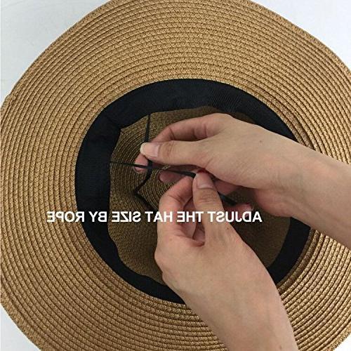 Lanzom Women Straw up Hat Fedora Hat