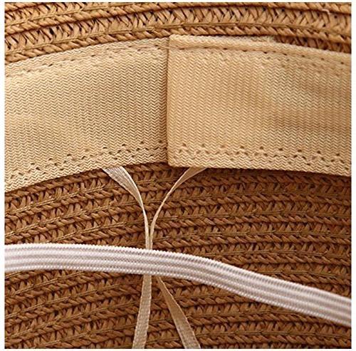 Lanzom Straw Panama Roll Hat Hat UPF50+