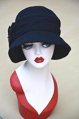 Womens Gatsby Style Wool Bucket Cap Bonnie A299