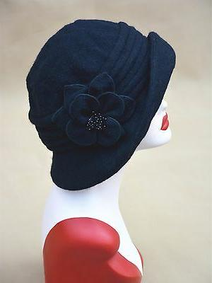 Womens 1920s Vintage Style Beanie Bucket Cap A299
