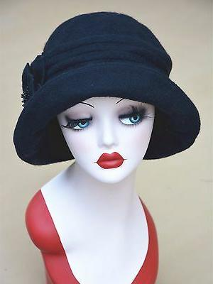 Womens 1920s Vintage Style Bucket Cap Winter A299