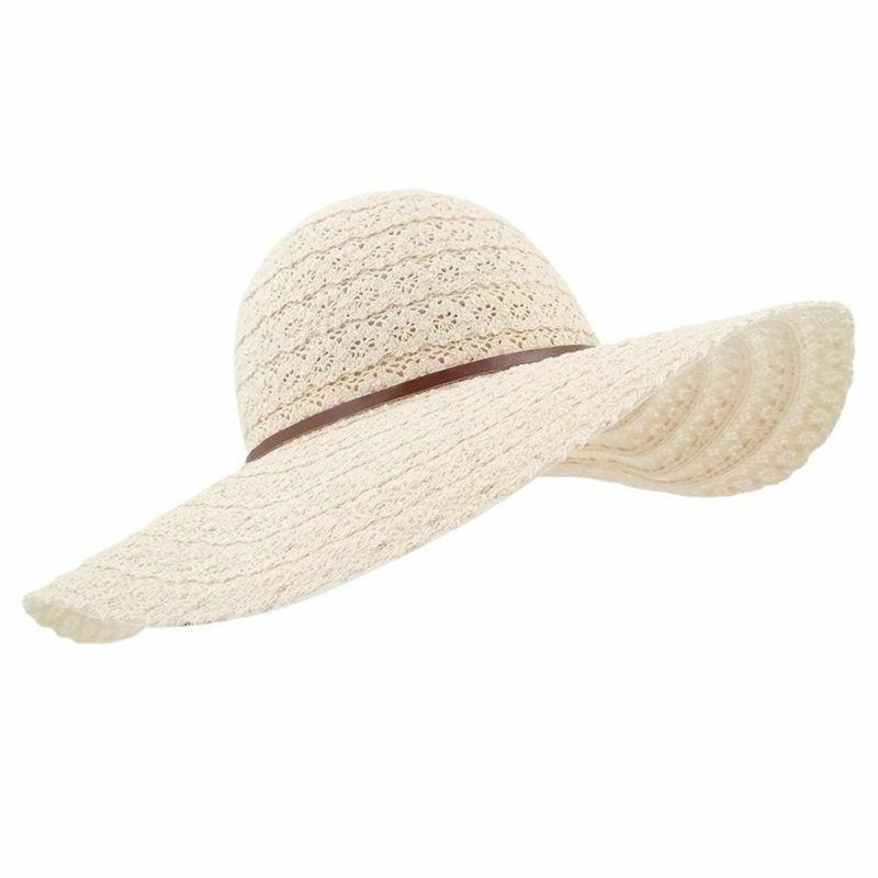 lethmik Womens Summer Lace Sun Hat Floppy Wide Brim Beach Co