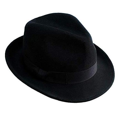 wool trilby hat men women felt fedora