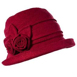Siggi Ladies 1920s Vintage Wool Felt Cloche Bucket Bowler Ha