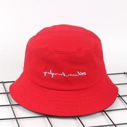 Letter embroidery <font><b>bucket</b></font> <font><b>hat</b