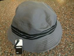 Adidas Linear Bucket Hat Gray / Black NEW Authentic Beach