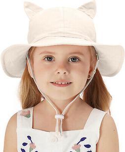 Home Prefer Little Kids Sun Protection Hats UPF50+ Cotton Bu