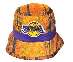 "M&N 'Mens Los Angeles Lakers ""Forest Camo"" Bucket Hat - NBA"