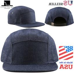 made in usa 5 panel hat flat
