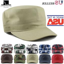 made in usa cotton twill military caps