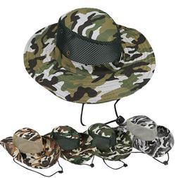 Men Bucket Hats Boonie Hunting Fishing Outdoor Wide Brim Saf