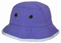 Newhattan Men's 100% Cotton Bucket Hat Lavender White