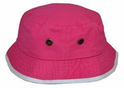 Newhattan Men's 100% Cotton Bucket Hat Pink White