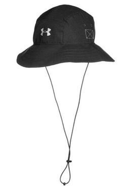 Under Armour Men's ArmourVent Bucket Hat, Black/Graphite, On