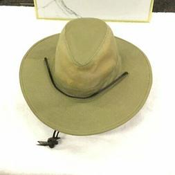 Dorfman Pacific Men's Brushed Twill-and-Mesh Safari Hat with