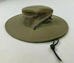 DORFMAN PACIFIC MEN'S BUCKET HAT, MEDIUM, KHAKI BRIM