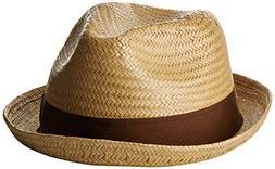 Brixton Men's Castor Straw Fedora HAT, Latte, M