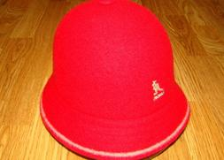 Men's Classic Kangol Stripe Casual Bucket Hat Color Red/Off