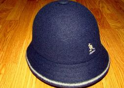 Men's Classic Kangol Stripe Casual Bucket Hat Color Navy/Off