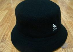 Men's Classic Kangol Wool Lahinch Bucket Hat Color  Black