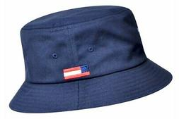 Kangol Men's Nations USA Navy Fashion Cotton Bucket Hat Sz: