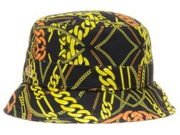 NEW ERA - Men's Project Real Chains - Black Gold Bucket Hat