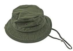 Dorfman Pacific Men's Twill Olive Bucket Hat