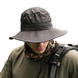 Boonie Bucket Hat Fisherman Wide Brim Safari Cap Pure Cap Un