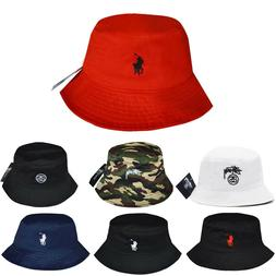 Men Women Unisex Bucket Hat Cotton polo Hat Bob Caps Hip Hop