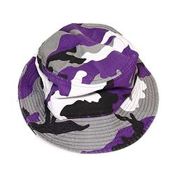 Falari Men Women Unisex Cotton Bucket Hat Large/X-Large Purp