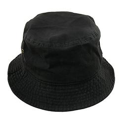 Falari Men Women Unisex Cotton Bucket Hat Small/Medium Black