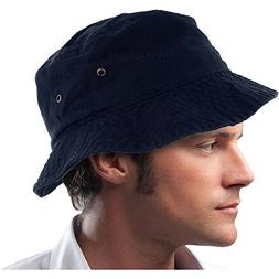 Mens 100% Cotton Fishing Hunting Summer Bucket Cap Hat