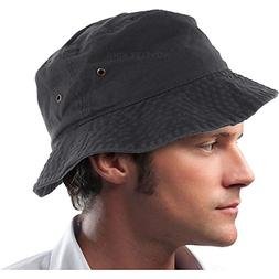 Mens 100% Cotton Fishing Hunting Summer Bucket Cap Hat S/M,