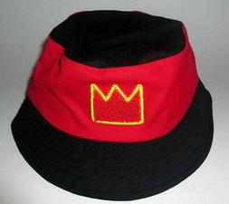 MENS AKADEMIKS BLACK RED BUCKET HAT SIZE L/XL