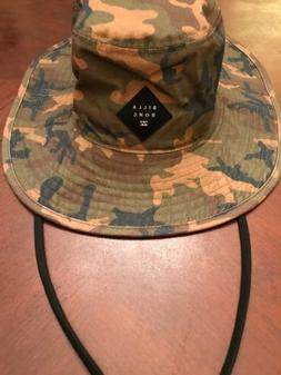 Billabong Mens Big John Print Bucket Hat Blue Camo One Size