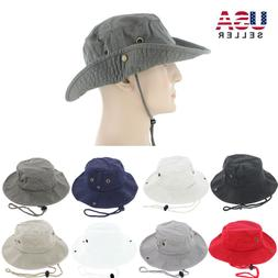 Mens Boonie Bucket Hat Cap 100% Cotton Fishing Military Hunt
