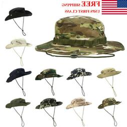 Mens Boonie Bucket Sun Hat Safari Cap Hunting Fishing Milita