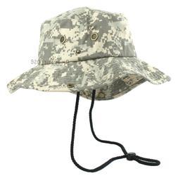 Mens Boonie Bucket Wide Brim Hat Digital Desert Camo Cotton
