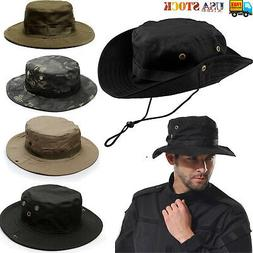 Mens Bucket Hat Cotton Blend Wide Brim Fishing Camping Cap V