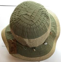 Men's Bucket Hat Dorfman Pacific Green/ Sand NWT Fishing