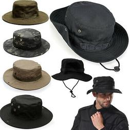 Mens Bucket Hats Wide Brim Visor Safari Summer Fishing Campi